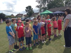 Singing at the Village Fete