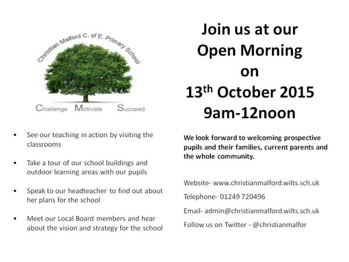Open Day October 2015 - flyer