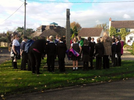 Remembrance Assembly at the War Memorial