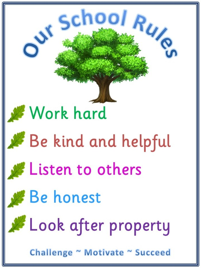 Our School Rules Christian Malford Church Of England