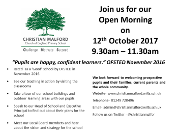 Open Day - October 2017